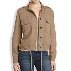 Lucky Brand Short Military Jacket XL Khaki